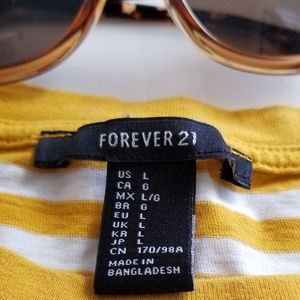 Forever 21 Tops - Long Sleeve Striped T Shirt